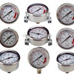 Pressure Gauge Gleasrin Filled